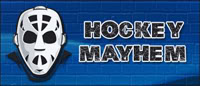 Hockey Mayhem - Blue Brick - 200x86